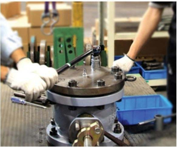 Manutenção emválvulas industriais